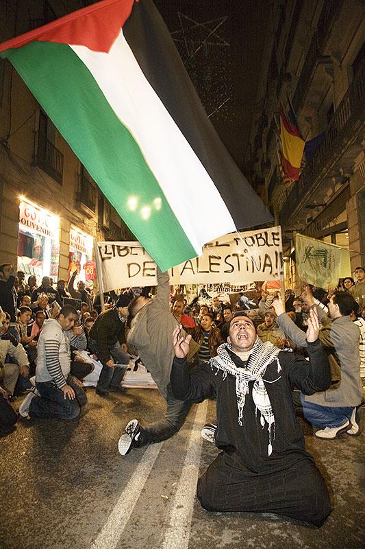 Manifestación contra la masacre israeli en Gaza, Barcelona